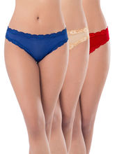 Prettysecrets Mesh Thong - Pack Of 3 (PS0916MSSCTHG3), multicolor, xl