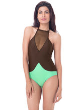 PrettySecrets High Neck Swimsuit (PSW16SWM03A), green, l