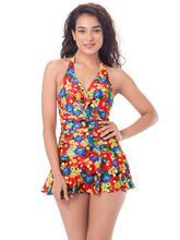 PrettySecrets Floral Sunkissed Skirted Swimsuit (PSW16SWM19A), multicolor, m