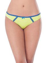 Prettysecrets Cotton Lace Bikini (PS0916BKLCBKN07), yellow and blue, xl