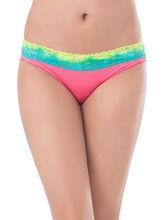 Prettysecrets Cotton Lace Bikini (PS0916OMWBBKN06), pink, m