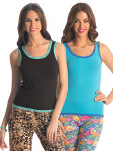 Prettysecrets Lacy Tank Top - Pack Of 2 (PSW16CTP2-33), multicolor, m