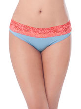 Prettysecrets Cotton Lacy Game Over Bikini (PS0916WBLCBKN01), blue, l