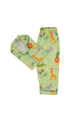 Jungle Safari PJ Set, 6m-12m