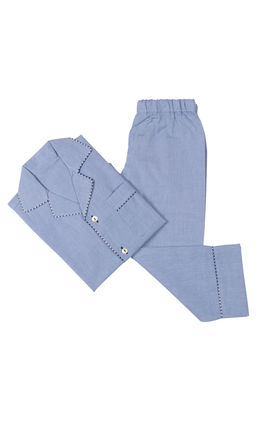 Chambray Blue PJ Set, 6m-12m
