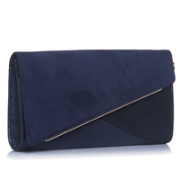 Dorothy Perkins Navy Blue Panelled Wristlet Clutch