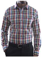 El Figo Men's Cotton Check Shirt (Yellow_ Red_ Blu_ chk), multicolor, xl