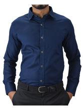 El Figo Men's Cotton Slim Fit Booty Shirt (Booty_ Navy), blue, xl