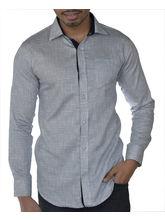 El Figo Men's Printed Cotton Shirt (Print_ White), multicolor, s