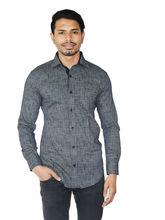 El Figo Men's Printed Cotton Shirt (Print_ Navy), multicolor, xl