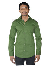 El Figo Men's Olive Shirt With Camouflage Style (Olive_ Camo_ Cont), green, l