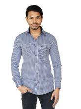 El Figo Men's Gingam Check Double Pocket Shirt (Gingam_ Dbl_ Pkt), multicolor, m