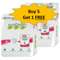 Nateen Plus Pull up Diaper - 5+ 1 Combo Offer, medium