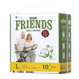 Disposable Adult Diaper-Friends AD 10 s Easy - Large