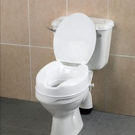 Toilet raiser with lid, 15 cm
