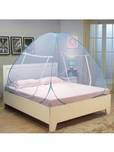 Kawachi Double Bed Size Folding Mosquito Net, blue