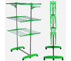 Kawachi Mild Steel With Abs-Pp Plastic Laundry Hanger Cloth Drying Stand
