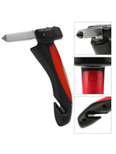 Kawachi Car Cane Auto Handgreep Cane Handle Flashlight Seat Belt Cutter Glass Breaker