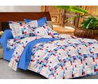 Casa Basics Double Bedsheet With 2 Pillow Cover (CBEZ230230144019), multicolor