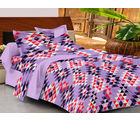 Casa Basics Double Bedsheet With 2 Pillow Cover (CBEZ230230144075), multicolor