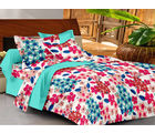 Casa Basics Double Bedsheet With 2 Pillow Cover (CBEZ230230144126), multicolor