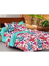 Casa Basics Double Bedsheet With 2 Pillow Cover (CBEZ230230144126), multicolor