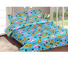 Casa Basics Double Bedsheet With 2 Pillow Cover (CBEZ230230144058), multicolor