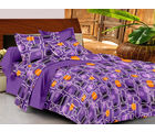 Casa Basics Double Bedsheet With 2 Pillow Cover (CBEZ230230144096), multicolor