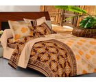 Casa Basics Double Bedsheet With 2 Pillow Cover (CBEZ230230144067) , multicolor