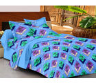 Casa Basics Double Bedsheet With 2 Pillow Cover (CBEZ230230144091), multicolor