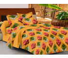 Casa Basics Double Bedsheet With 2 Pillow Cover (CBEZ230230144090), multicolor
