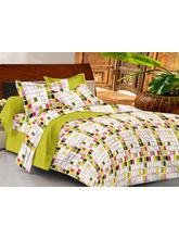 Casa Basics Double Bedsheet With 2 Pillow Cover (CBEZ230230144022), multicolor