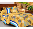 Casa Basics Double Bedsheet With 2 Pillow Cover (CBEZ230230144082), multicolor