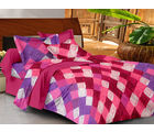 Casa Basics Double Bedsheet With 2 Pillow Cover (CBEZ230230144120), multicolor