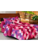 Casa Basics Double Bedsheet With 2 Pillow Cover (CBEZ230230144120), multicolor