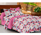 Casa Basics Double Bedsheet With 2 Pillow Cover (CBEZ230230144020), multicolor