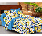 Casa Basics Double Bedsheet With 2 Pillow Cover (CBEZ230230144017), multicolor