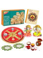 Bikano Diwali Puja Thali With Soan Papdi