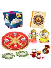Bikano Diwali Puja Thali With Rasgulla