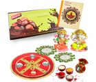 Bikano Diwali Puja Thali With Chocolates