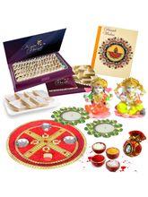 Bikano Diwali Puja Thali With Kaju Katli