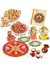 Bikano Diwali Puja Thali With Dryfruits
