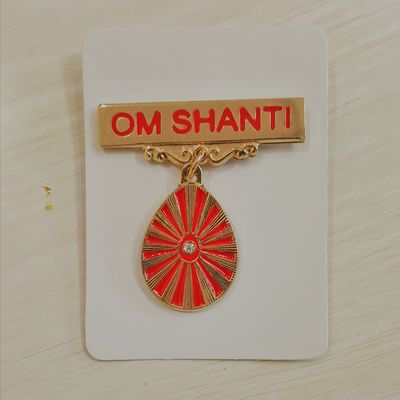 616 - Badge - Shiv Baba - Rays (Red)