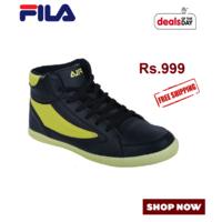 Fila Black Sneakers Shoes, black, 7
