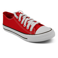 Romanfox casual sneaker shoes-One Year Exchange Warranty, red white, 10