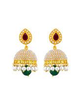 Sri Jagdamba Pearls Ethnic Kundan Pearl Jhumkis (JPSEP-15-11)
