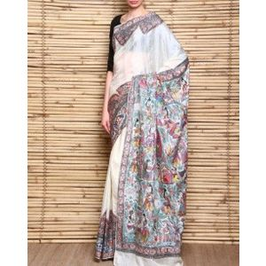 Handloom Pure Silk Saree with Madhubani Ramayan Painting
