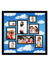 Trendzy 8 In 1 Blue Clouds Collage Wall Hanging Photo Frame (TRNDZY8SQFCLD), blue