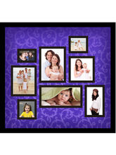 Trendzy 8 In 1 Purple Textured Collage Wall Hanging Square Photo Frame (TRNDZY8SQFPRPL), purple