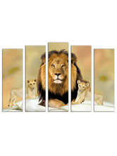 Trendzy Multi-Frame Wall Painting-Modern Art Digital Print (TRWPHLIONCBS), green